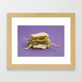 Ultraviolet Sandwich Doll Framed Art Print
