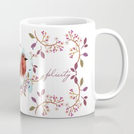 Robin - Bird Watercolor Coffee Mug