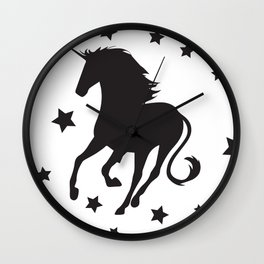Petite unicorn Wall Clock