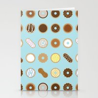 donuts Stationery Cards featuring Donuts by Dorothy Leigh