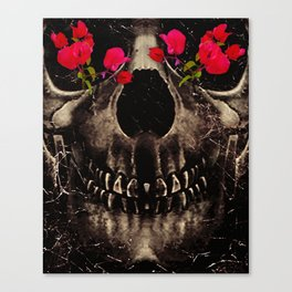 Death and Flowers Canvas Print