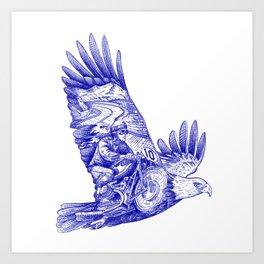 Eagle Rider Art Print