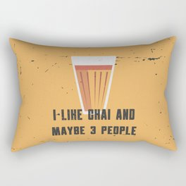 Funny Chai 3 People Quote Rectangular Pillow