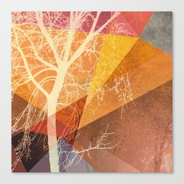 P22-C TREES AND TRIANGLES Canvas Print