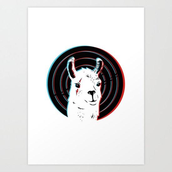 Llamalook Art Print