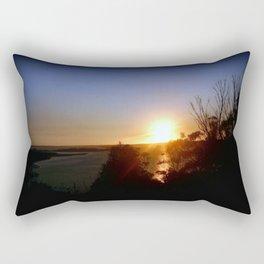 Dusk over Lakes Entrance Rectangular Pillow