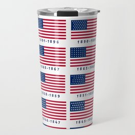 American Flag History Travel Mug