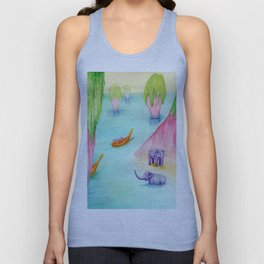 Thailand Travel Poster Unisex Tank Top