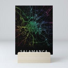 Salamanca, Spain, City, Map, Rainbow, Map, Art, Print Mini Art Print