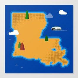 Louisiana Island Canvas Print