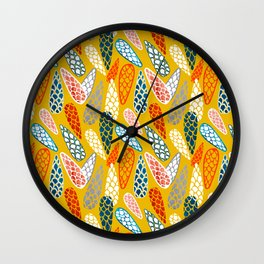 Colored Cone pattern Wall Clock