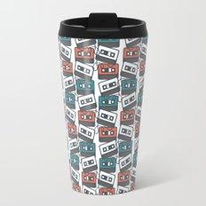 Cassette Tape Pattern Travel Mug