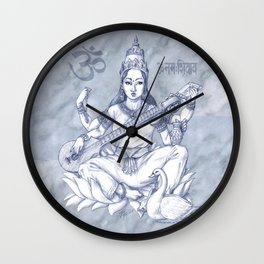 Saraswati Wall Clock