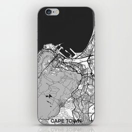 Cape Town Map Gray iPhone Skin