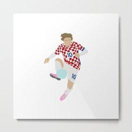 Luka Modric Croatia Print Metal Print