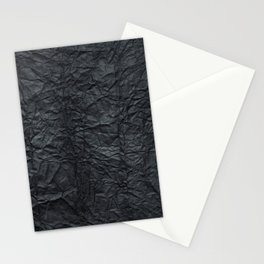 Abstract modern black gray creased paper texture Stationery Cards