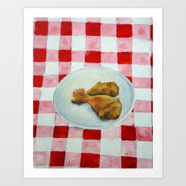 fried chicken Art Print