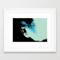 surfing Framed Art Prints featuring Surfing by CSNSArt