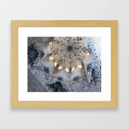 + alhambra star Framed Art Print