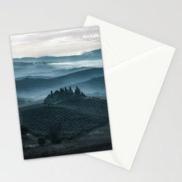 One cold day in Toscany Stationery Cards