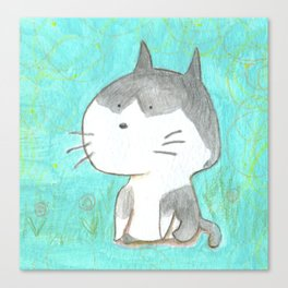 Big head cat Canvas Print