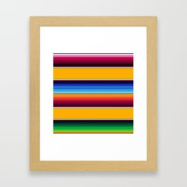 Traditional Mexican Serape in Yellow Multi Framed Art Print