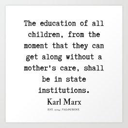 20  | Karl Marx Quotes | 190817 Art Print