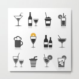Alcohol an icon Metal Print