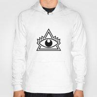 third eye Hoodies featuring Third Eye by Diogo Rueda