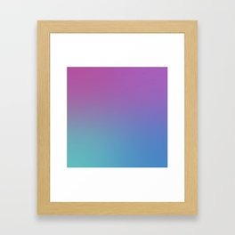 SUPERSTITION FUTURE - Minimal Plain Soft Mood Color Blend Prints Framed Art Print