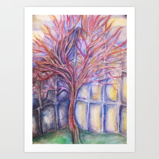 Nerve Tree Art Print