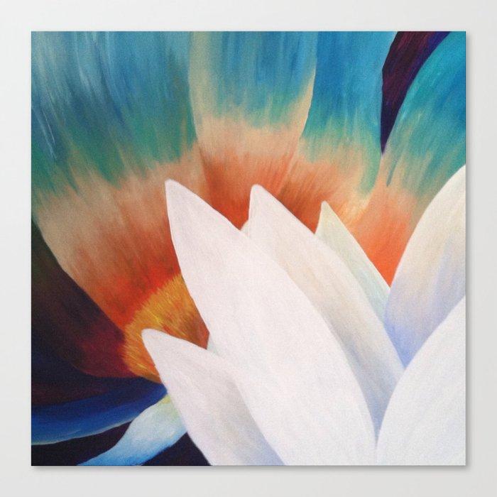 Juxtaposed Flowers Canvas Print