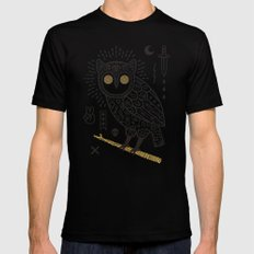 Hypno Owl MEDIUM Mens Fitted Tee Black