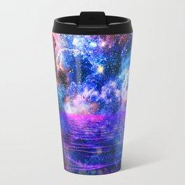 NEBULA COSMIC HORIZON OCEAN BLUE Metal Travel Mug