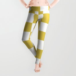 CHESS DESIGN (GOLD-WHITE) Leggings