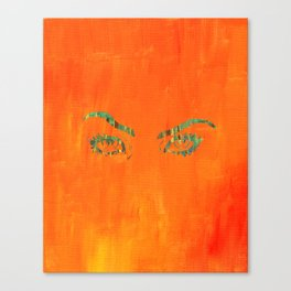 the walls have eyes. Canvas Print