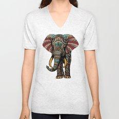 Ornate Elephant (Color Version) Unisex V-Neck