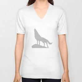 Wolf ascii Unisex V-Neck