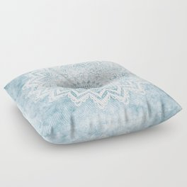 LIGHT BLUE MANDALA SAVANAH Floor Pillow