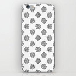 BW flower pattern 2 iPhone Skin