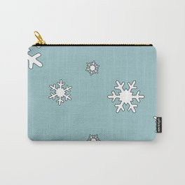 Snowflakes christmas illustration Carry-All Pouch