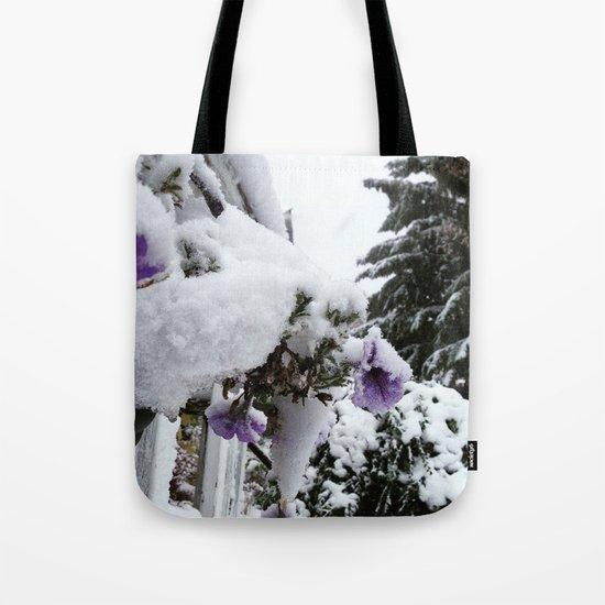 Snow in Spring Tote Bag