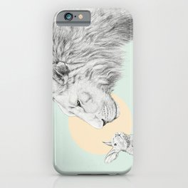 Lion and Bunny iPhone Case