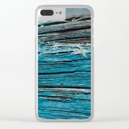 Blue Wood - Seattle, WA Clear iPhone Case