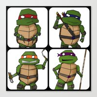 ninja turtle Canvas Prints featuring Teenage Mutant Ninja Turtle by Robbleeart