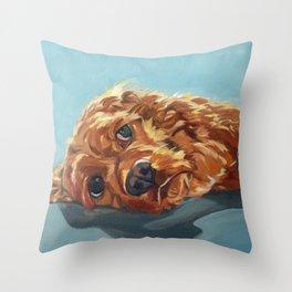 Newton the Lounging Cocker Spaniel Throw Pillow