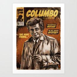 Columbo - TV Show Comic Poster Art Print