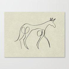 Continuous Line Unicorn Canvas Print