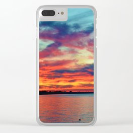 Sunset on Lake St. Clair in Belle River, Ontario Clear iPhone Case