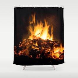 Fire flames Shower Curtain